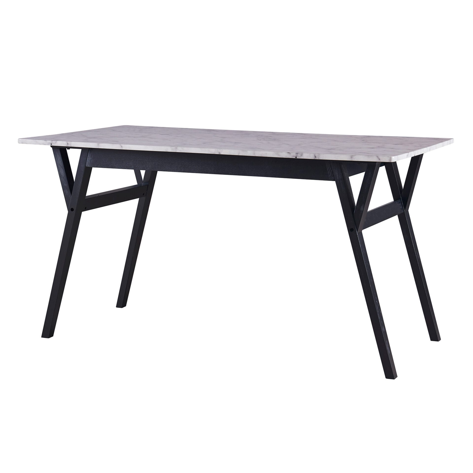 Rectangular Dining Table Faux Marble Top Teamson Home Uk